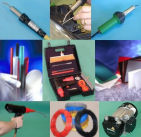 PLASTIC WELDING EQUIPMENT - Plastic welding torches, plastic filler rods and high voltage spark testers